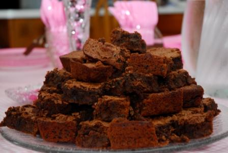 A Grand Tower of Gluten-Free Brownies
